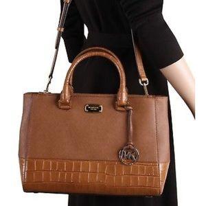 [Michael Kors] Kellen Luggage Leather Satchel